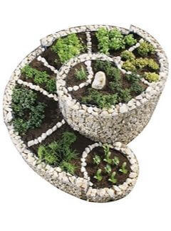 Kräuter pflanzen in der Kräuterspirale