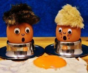 Zwei Eier mit Spiegelei